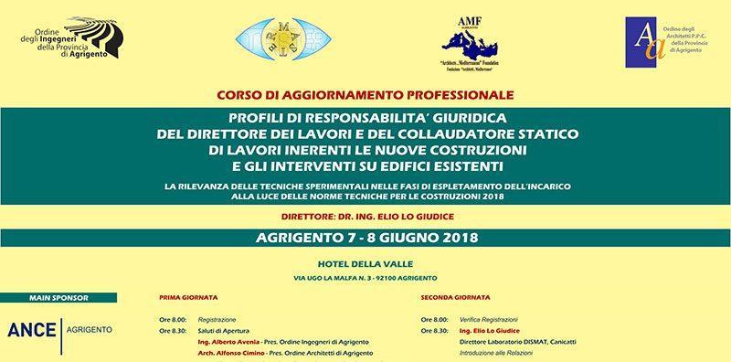 Corso di aggiornamento professionale organizzato dall'Ordine degli Ingegneri della Provincia di Agrigento