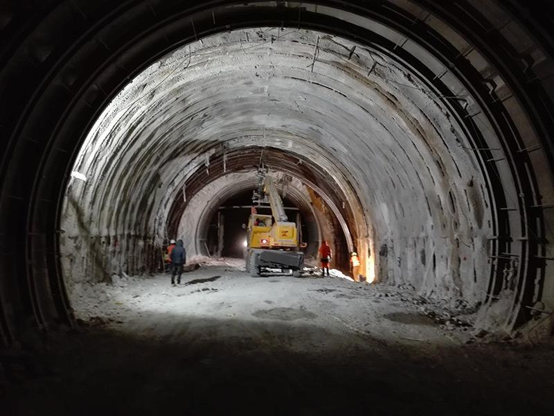 monitoraggio strutturale san bendetto norcia tunnel